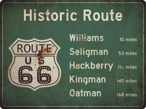 US-Traffic Sign - Historic Route 66 - grunge