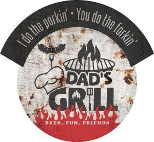 Dads Grill - round & banner