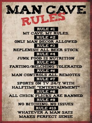 Man Cave Rules - grunge