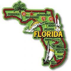 Colorful State - FLORIDA - Magneet