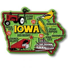 Colorful State - IOWA - Magneet