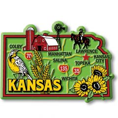 Colorful State - KANSAS - Magneet