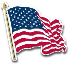 Waving USA flag - Magneet
