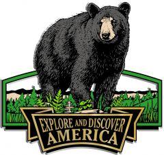 Discover & Explore America - BLACK BEAR - Magneet
