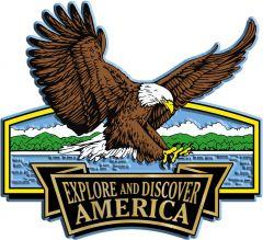 Discover & Explore America - LANDING EAGLE - Magneet