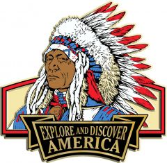 Discover & Explore America - INDIAN BUST - Magneet