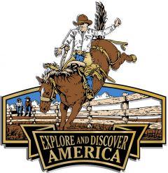 Discover & Explore America - BUCKING BRONCO - Magneet