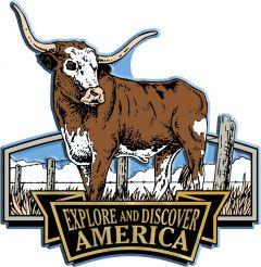 Discover & Explore America - LONGHORN - Magneet