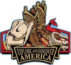 Discover & Explore America - COWBOY APPAREL - Magneet