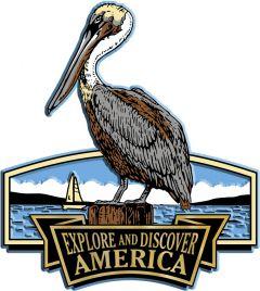 Discover & Explore America - PELICAN - Magneet