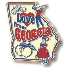 Vintage State - Georgia - Magneet