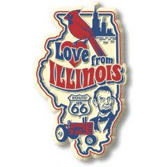 Vintage State - Illinois - Magneet