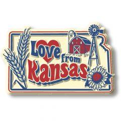 Vintage State - Kansas - Magneet