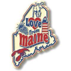 Vintage State - Maine - Magneet