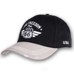 Cap Route 66 - Black-Grey - Vintage
