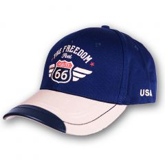 Cap Route 66 - Blue-Beige - Accent