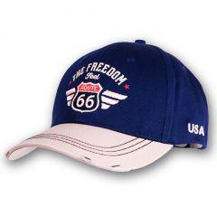 Cap Route 66 - Blue-Beige - Vintage