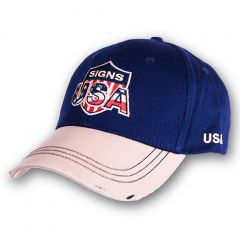 Cap Signs USA - Blue-Beige - Vintage