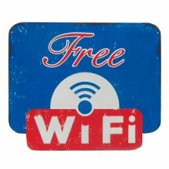 Free Wifi - Blue-Red