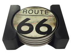 Onderzetters Route 66 - Set van 4 stuks