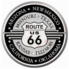 States of Route 66 - rond 35 cm