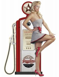 Pin-Up Gasstation - beige/red