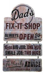 Dad's Fix-it Shop - metal