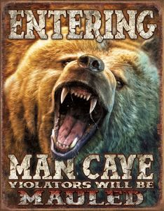 Entering Man Cave - Grizzly