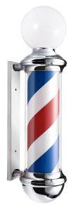 Barbierspaal - Barberpole - Kapperspaal met bol lamp