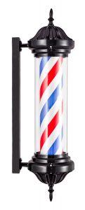 Barbierspaal - Barberpole - Kapperspaal - Zwart