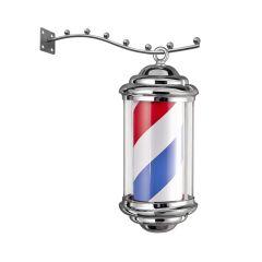 Barbierspaal - Barberpole - Kapperspaal - vrij hangend