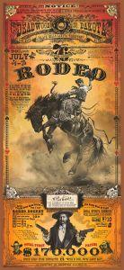 Rodeo promotie - Deadwood - South Dakota - WOOD