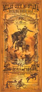 Rodeo promotie - Miles City Montana - WOOD