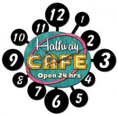 Halfway Cafe - layered clock