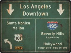 US-Traffic Sign - Los Angeles-Hollywood - grunge