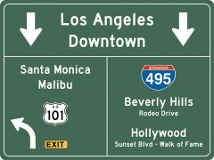 US-Traffic Sign - Los Angeles-Hollywood