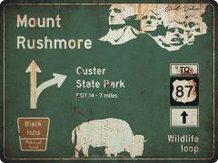 US-Traffic Sign - Mount Rushmore - grunge