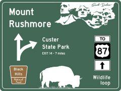 US-Traffic Sign - Mount Rushmore