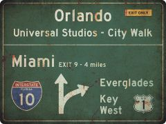 US-Traffic Sign - Florida - grunge