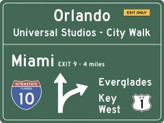 US-Traffic Sign - Florida