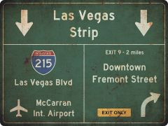 US-Traffic Sign - Las Vegas - grunge