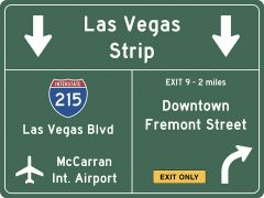US-Traffic Sign - Las Vegas