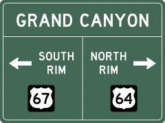 US-Traffic Sign - Grand Canyon