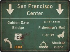 US-Traffic Sign - San Francisco - grunge