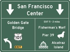 US-Traffic Sign - San Francisco