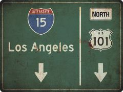 US-Traffic Sign - Los Angeles - grunge
