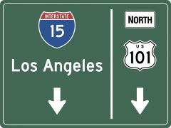 US-Traffic Sign - Los Angeles