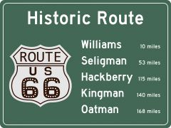 US-Traffic Sign - Historic Route 66