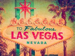 Las Vegas Sign - vintage style