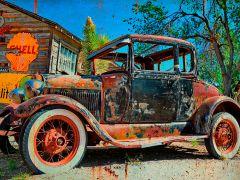 Rusty old car - Shell